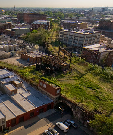 Direct access to Reading Viaduct Rail Park